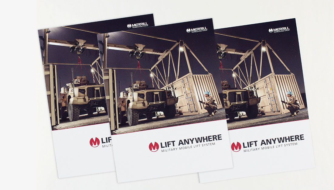 Merrill Mobile Lift System Brochure cover